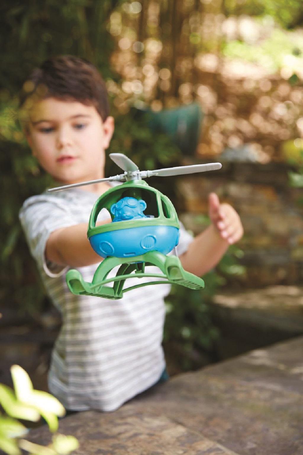 Green Toys - Vrtulník modrý