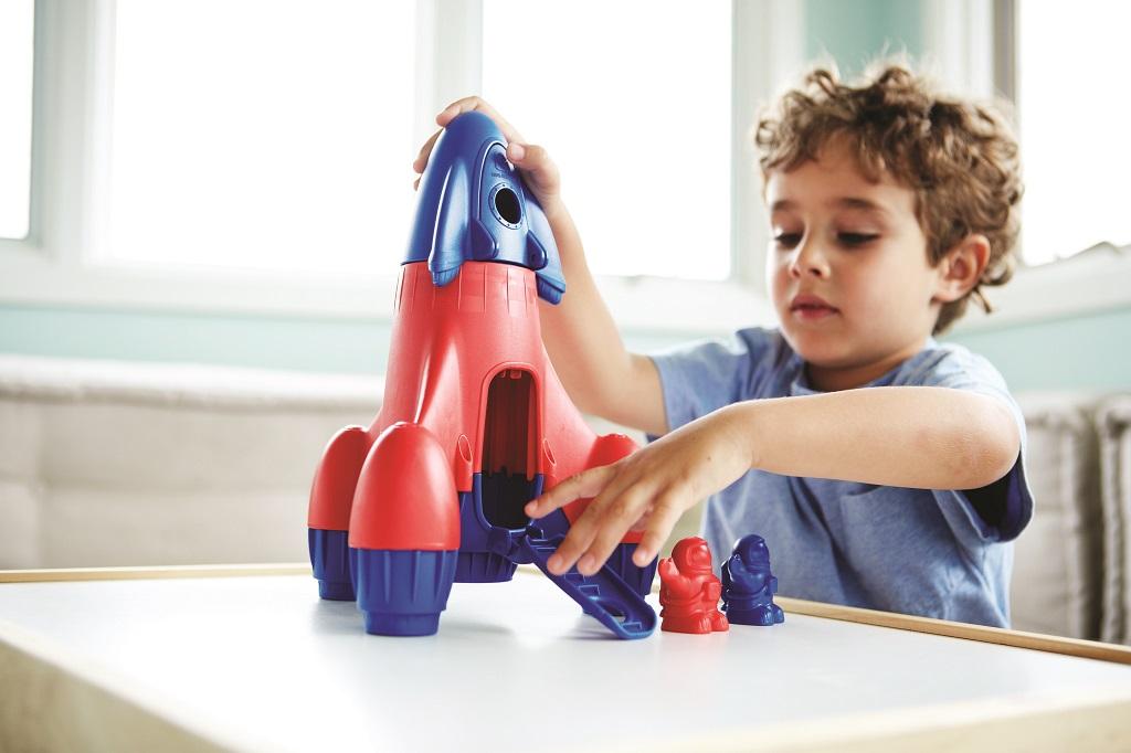 Green Toys - Raketa modrá