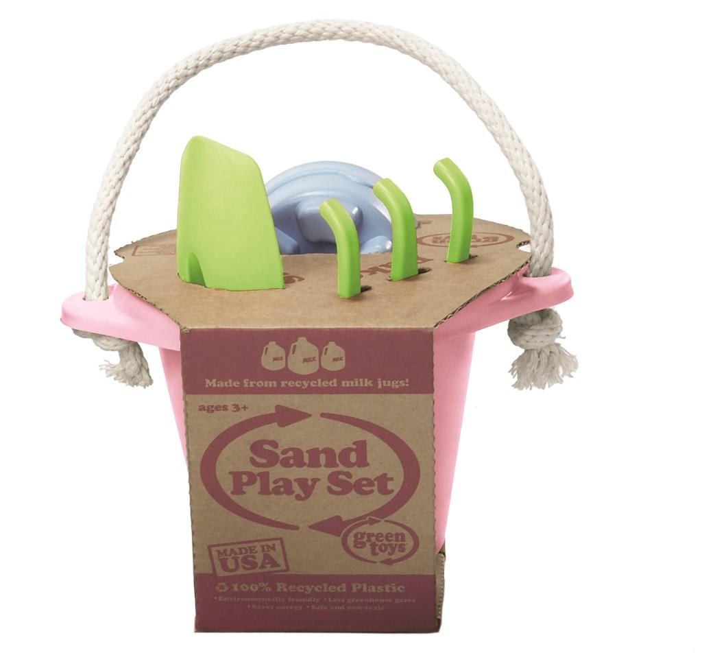 Green Toys - Růžový set na písek