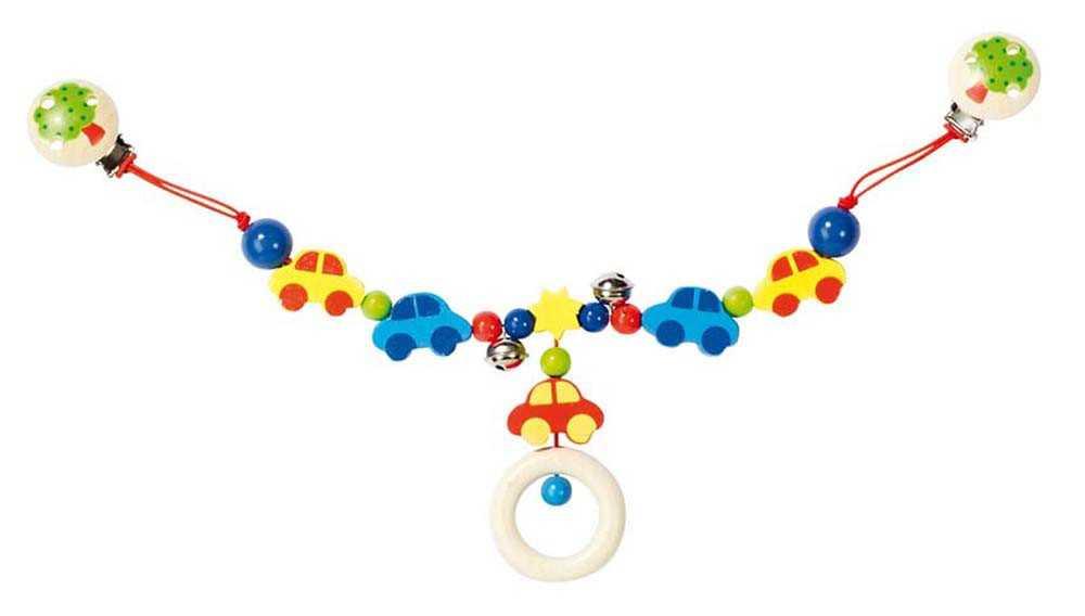 Heimess dřevěné hračky - Řetěz do kočárku - Auta