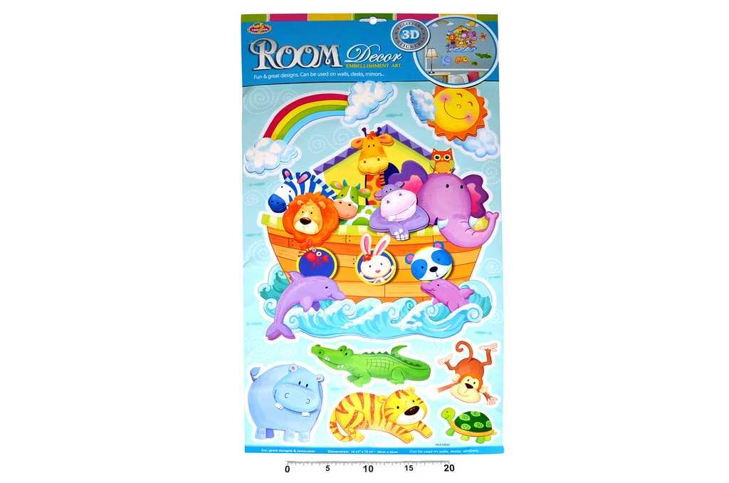 Dekorace nálepky na zeď Noemova archa