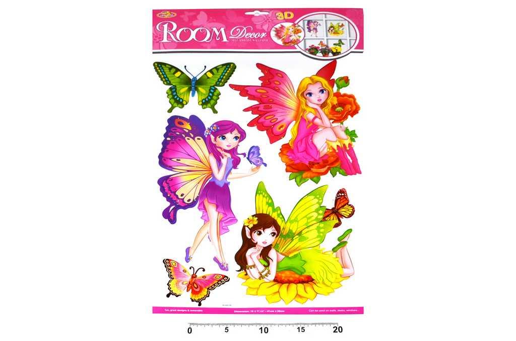 Dekorace nálepky na zeď Motýlí víly