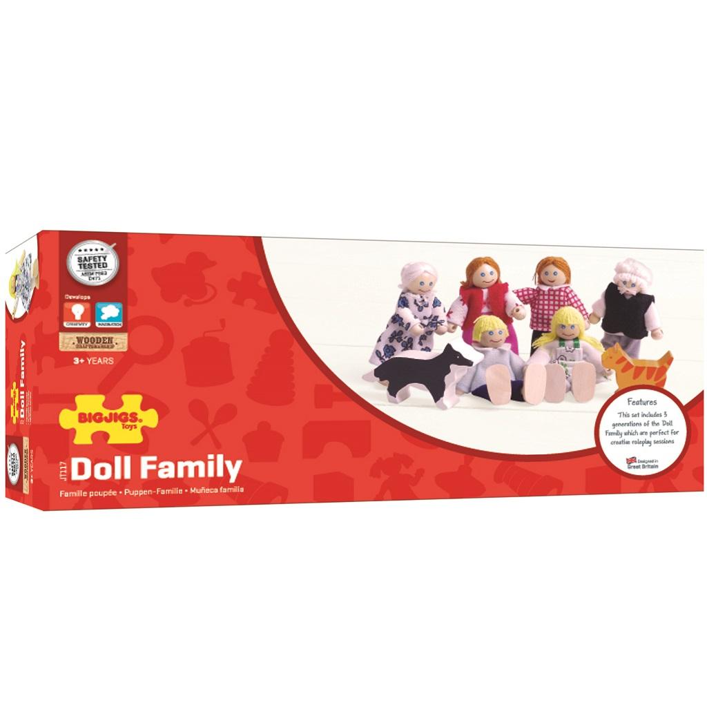 Bigjigs Toys panenky - Set rodinky do domečku 8ks