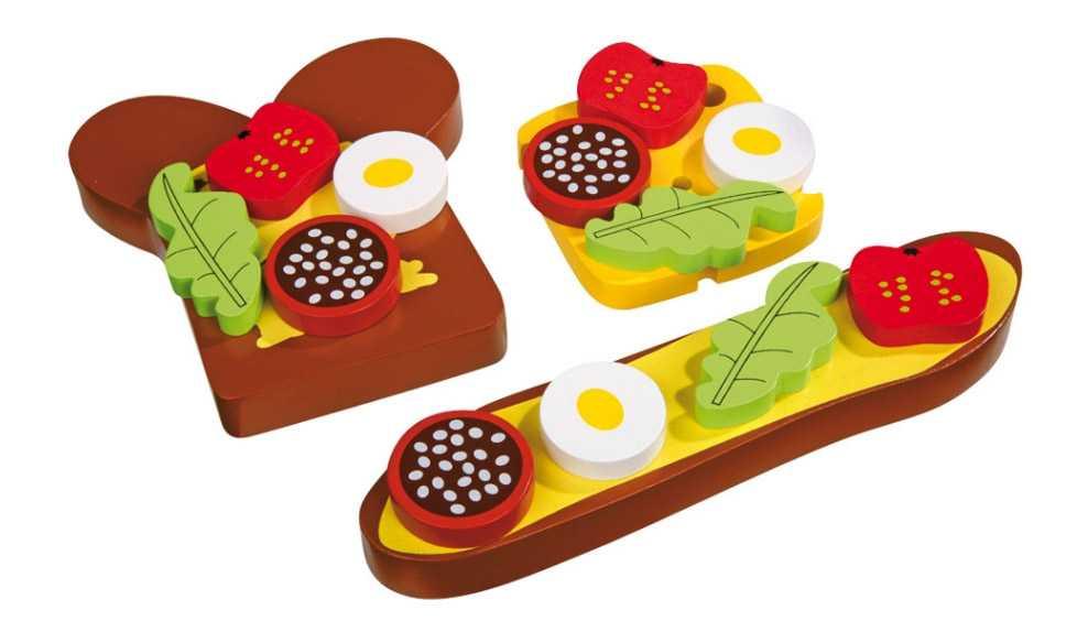 Small Foot Potraviny drevený obložený chlieb