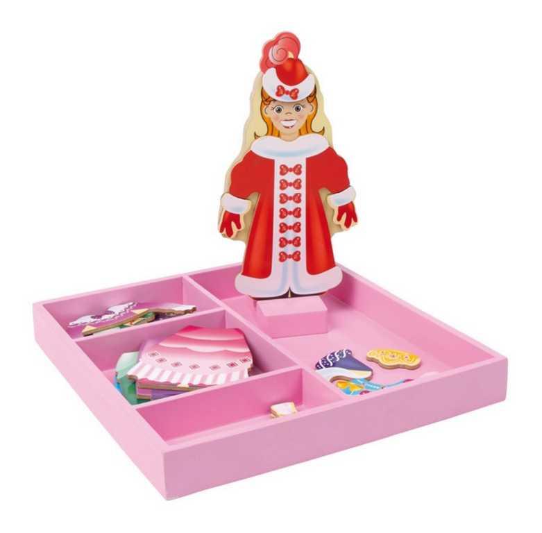Small Foot drevená hračka - Obliekací box princezná