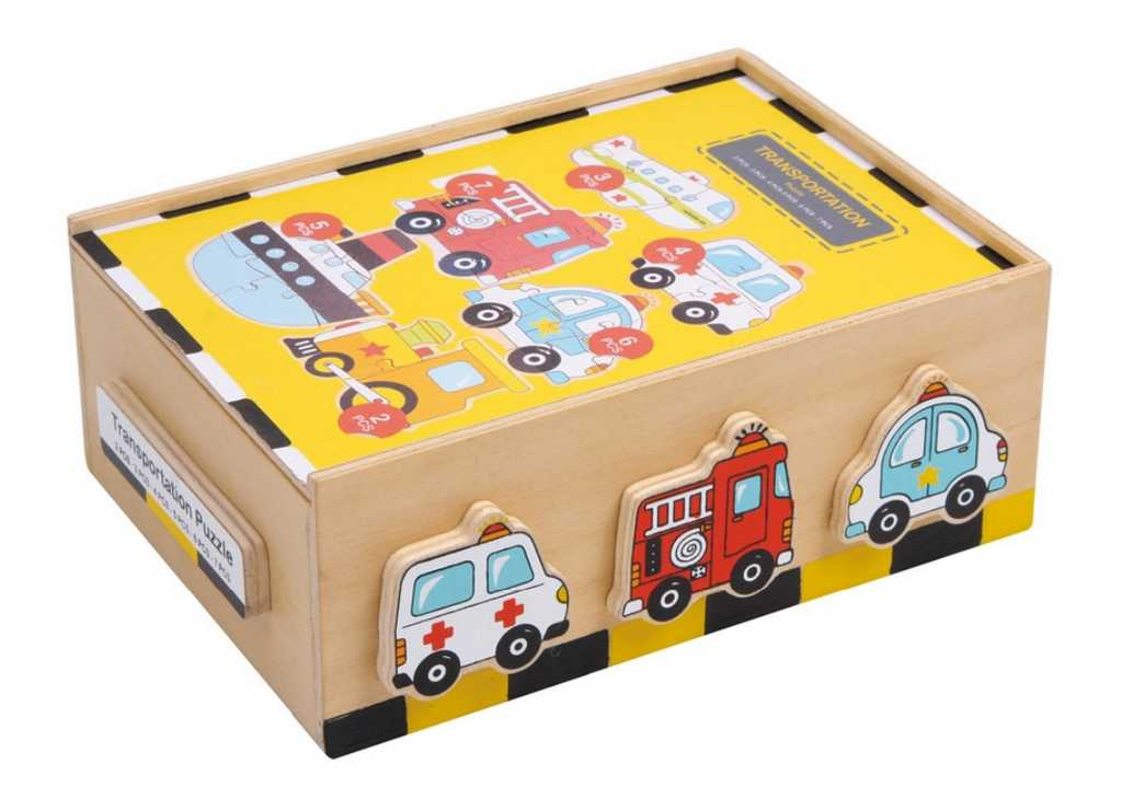 Small Foot  Puzzle - Box Vozidla