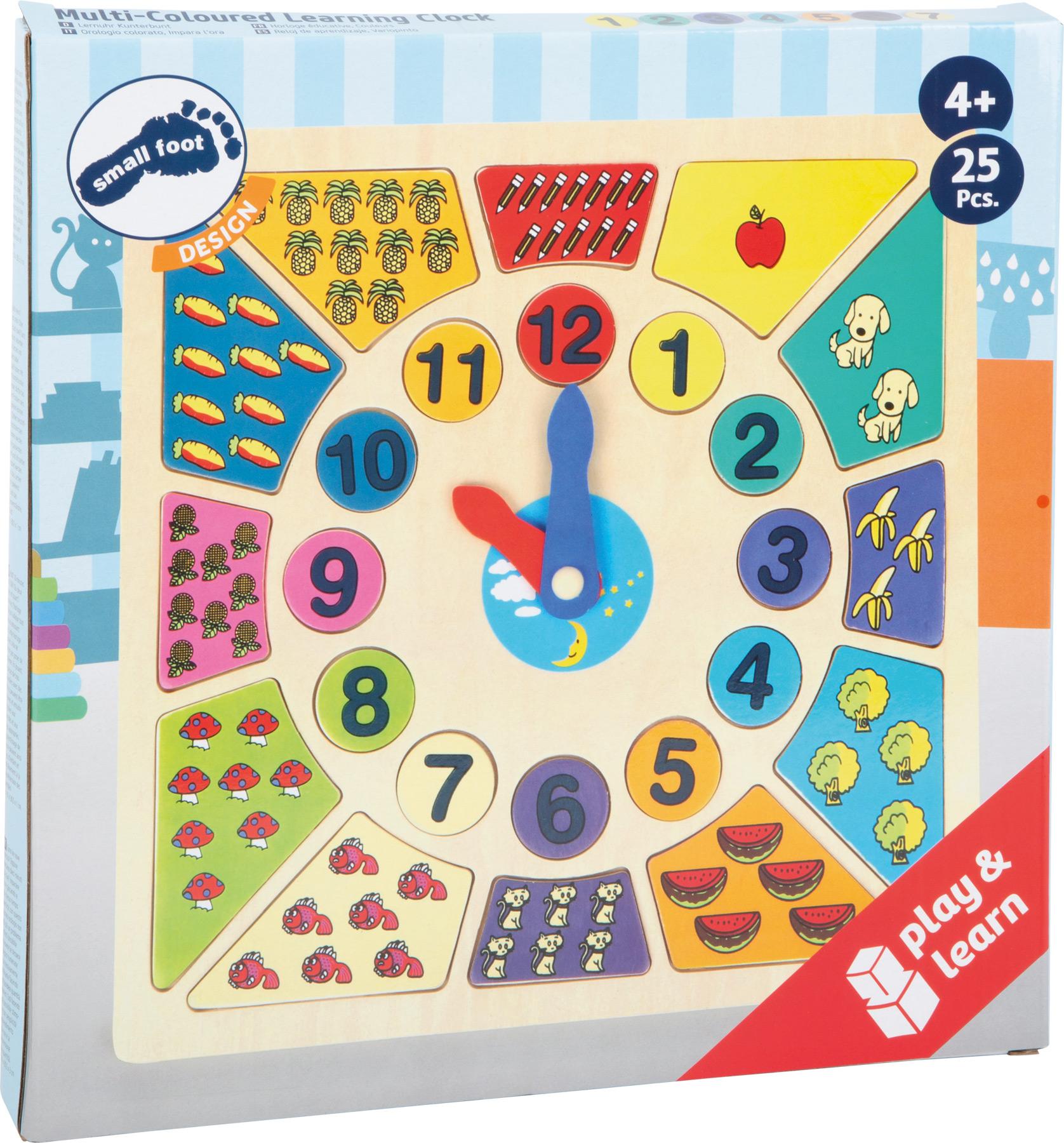 Small Foot Vkladacie výučbové puzzle - Nauč sa hodiny