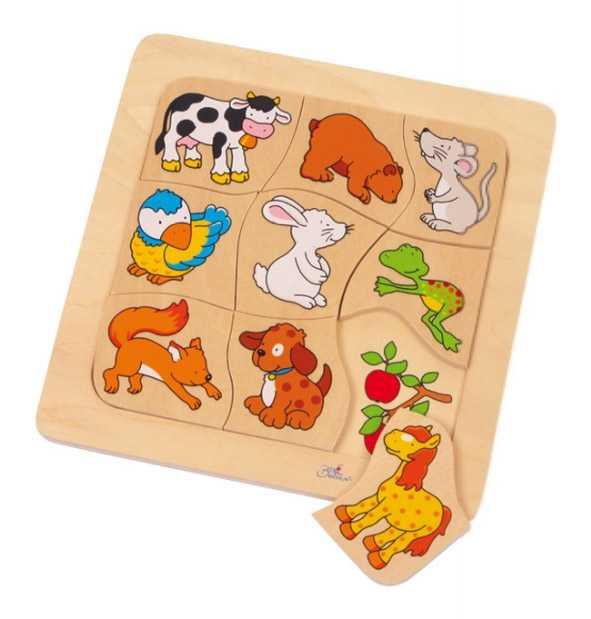Small Foot Vkladacie puzzle - Čo zvieratka jedia?