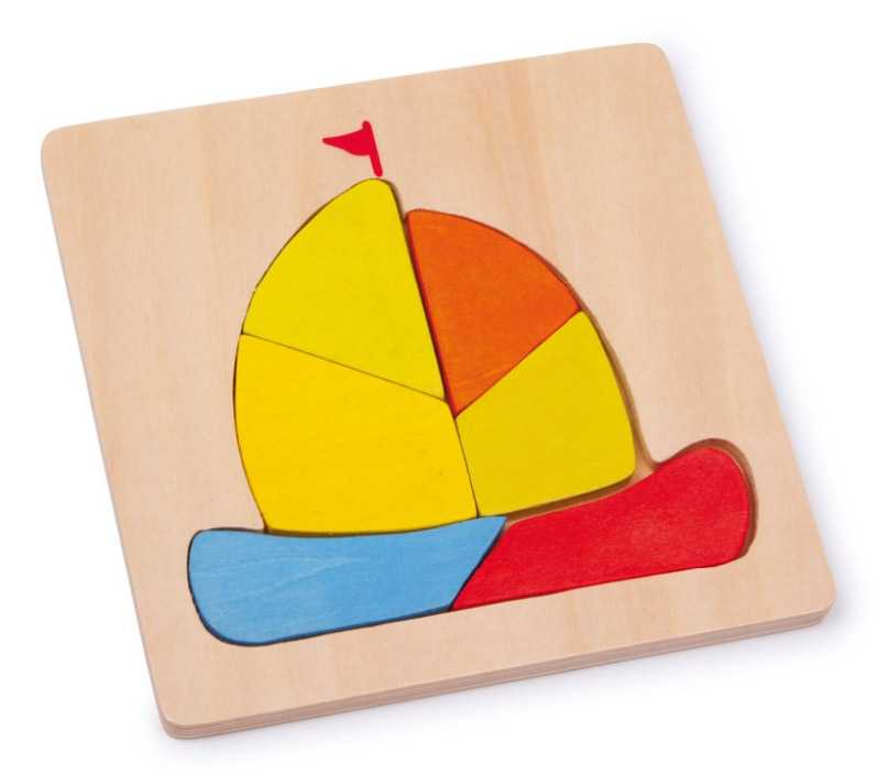 Small Foot Vkladacie puzzle Loď