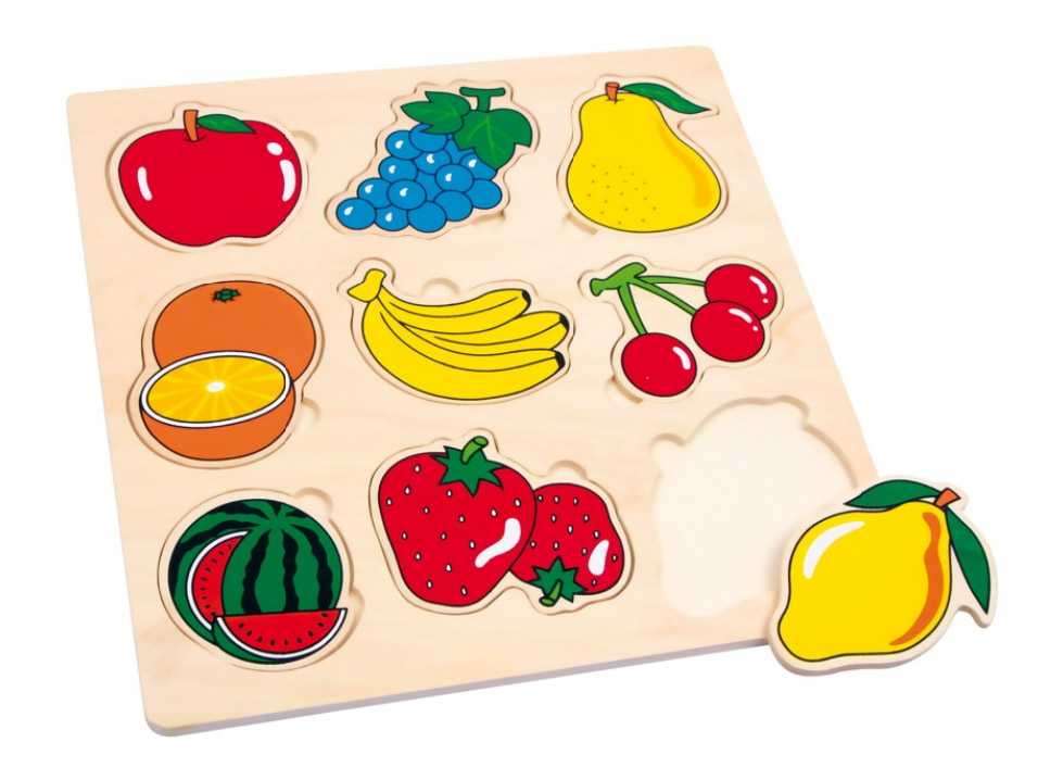 Small Foot Vkladacie puzzle Ovocie