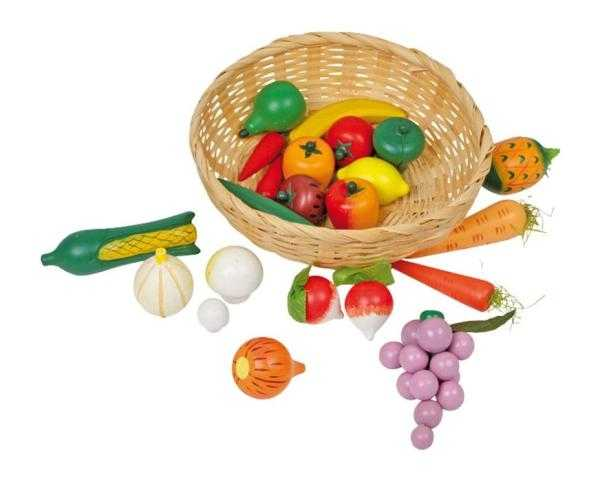 Small Foot Košík so zeleninou
