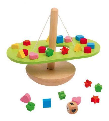 Small Foot Drevená motorická hračka Vyvažovanie balancujúca hojdačka