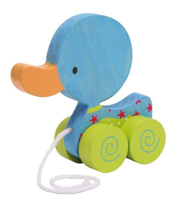 Small Foot Ťahacia hračka na povrázku - modré kačiatko