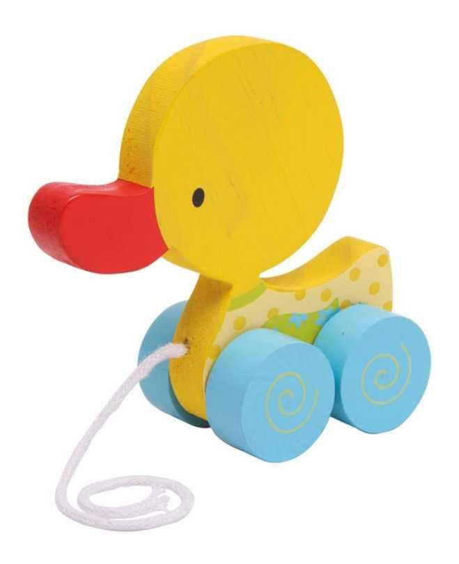 Small Foot Ťahacia hračka na povrázku - žlté kačiatko