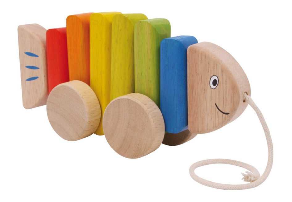 Small Foot drevené hračky - Ťahacia ryba