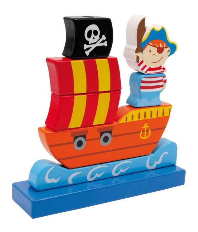 Small Foot Nasúvacia pirátska loď