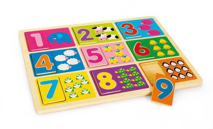 Small Foot Puzzle Výučba čísel