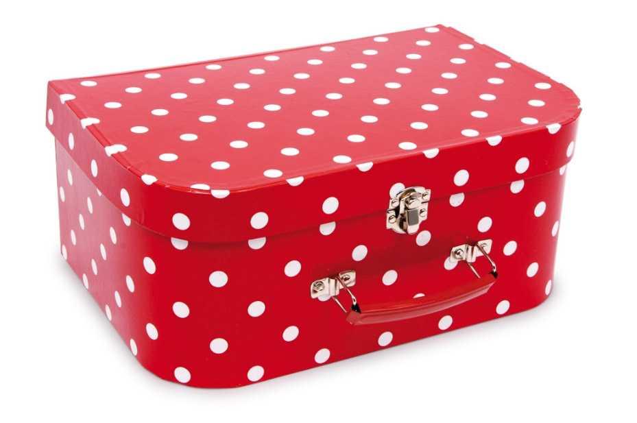 Small Foot Detský ružový piknikový kufor s bodkam