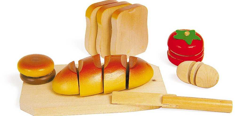 Small Foot Krájanie drevených potravín