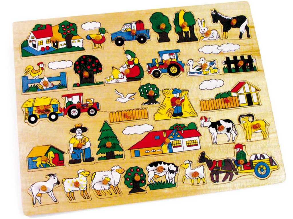 Small Foot Vkladacie puzzle Veľká farma
