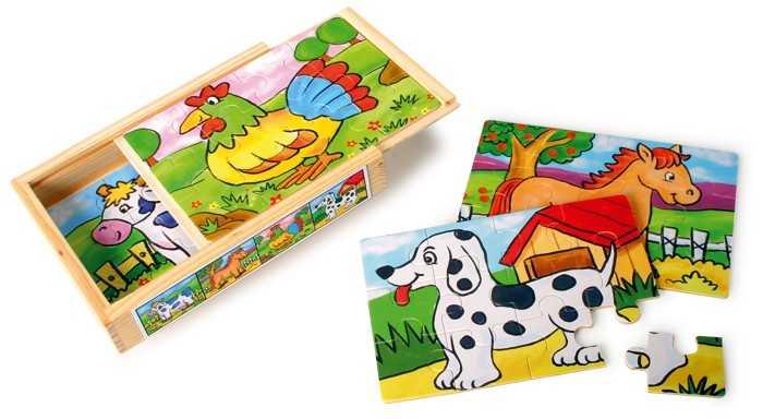 Small Foot Puzzle v krabičke - Zvieratá sada 2ks