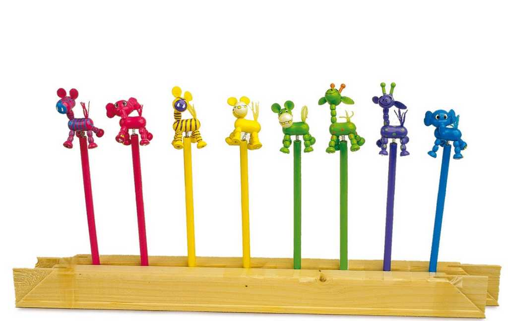 Small Foot Drevená ceruzka postavičiek Afrika - 1ks