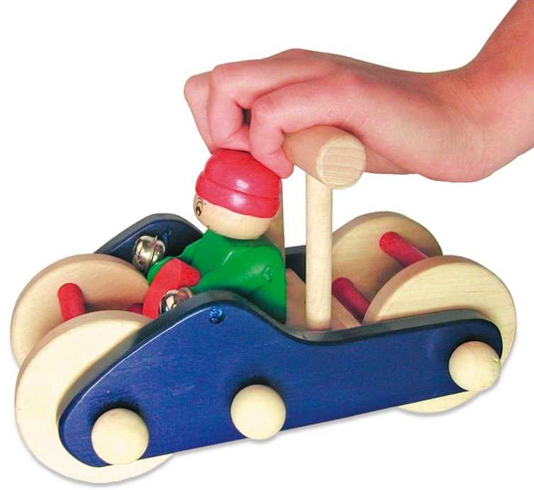Small Foot Strkadlo a hračka do ruky v jednom - auto