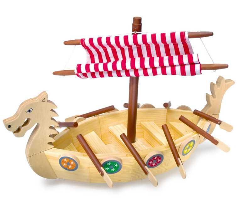 Small Foot Drevená vikingská loď