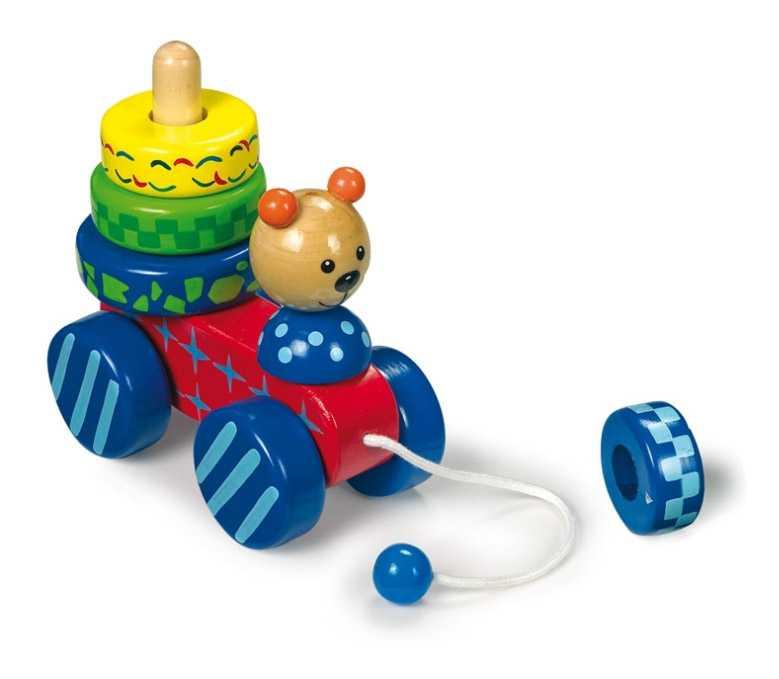 Small Foot Ťahacia hračka - nasadzovanie medveď