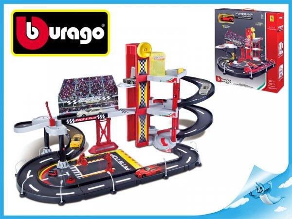 Bburago Auto & Play Ferrari závodní autodráha