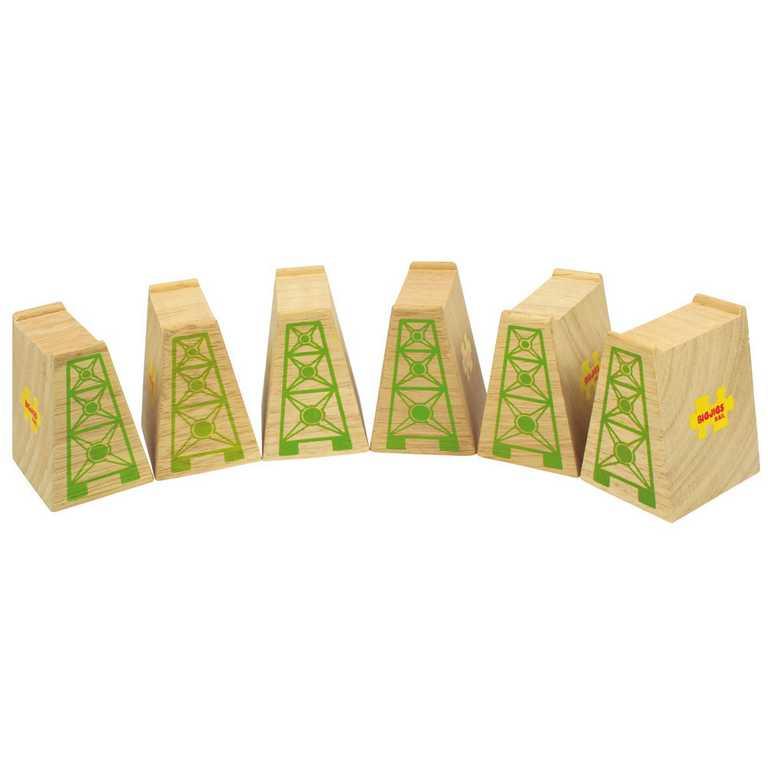 Bigjigs Rail dřevěná vláčkodráha - Mostní pilíře 6ks