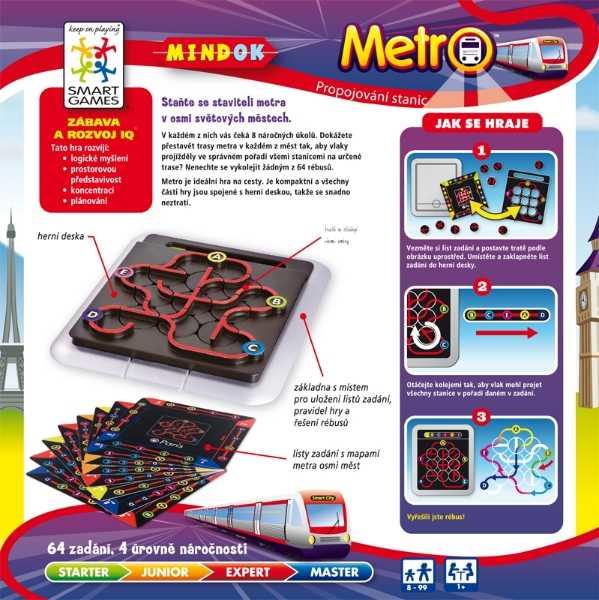 Dětské hlavolamové smart hry - Metro