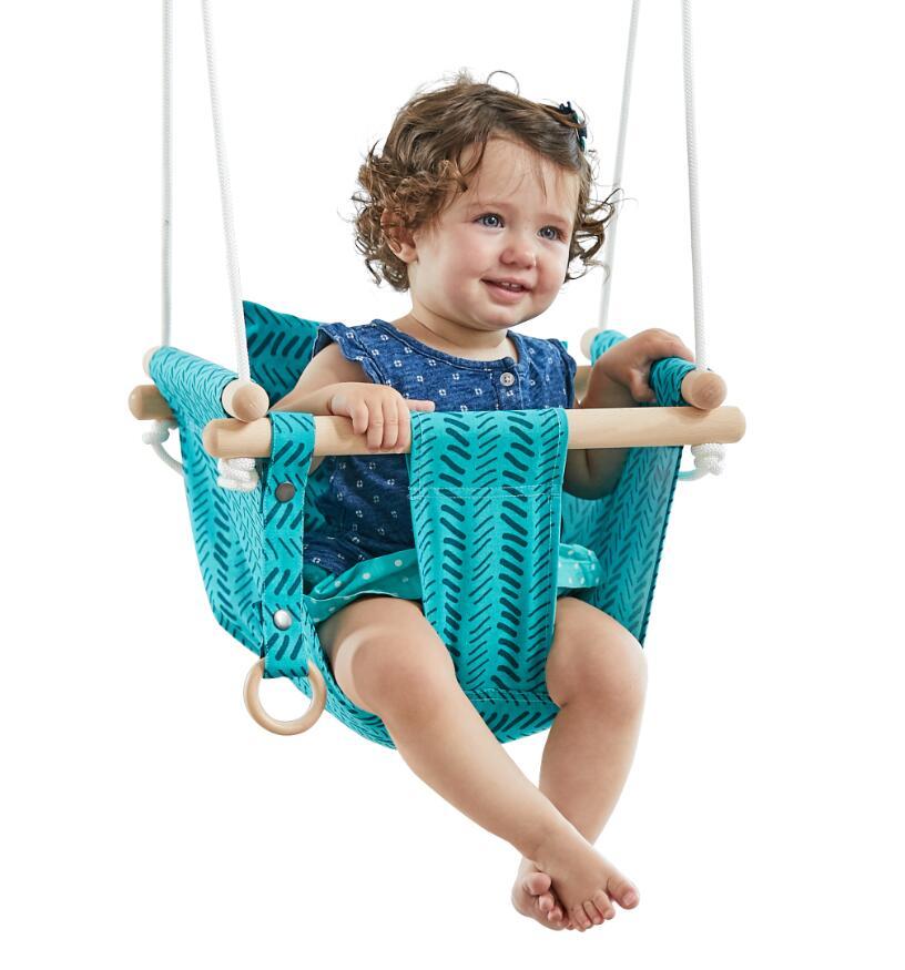 Detská textilné hojdačka 100% bavlna tyrkysová