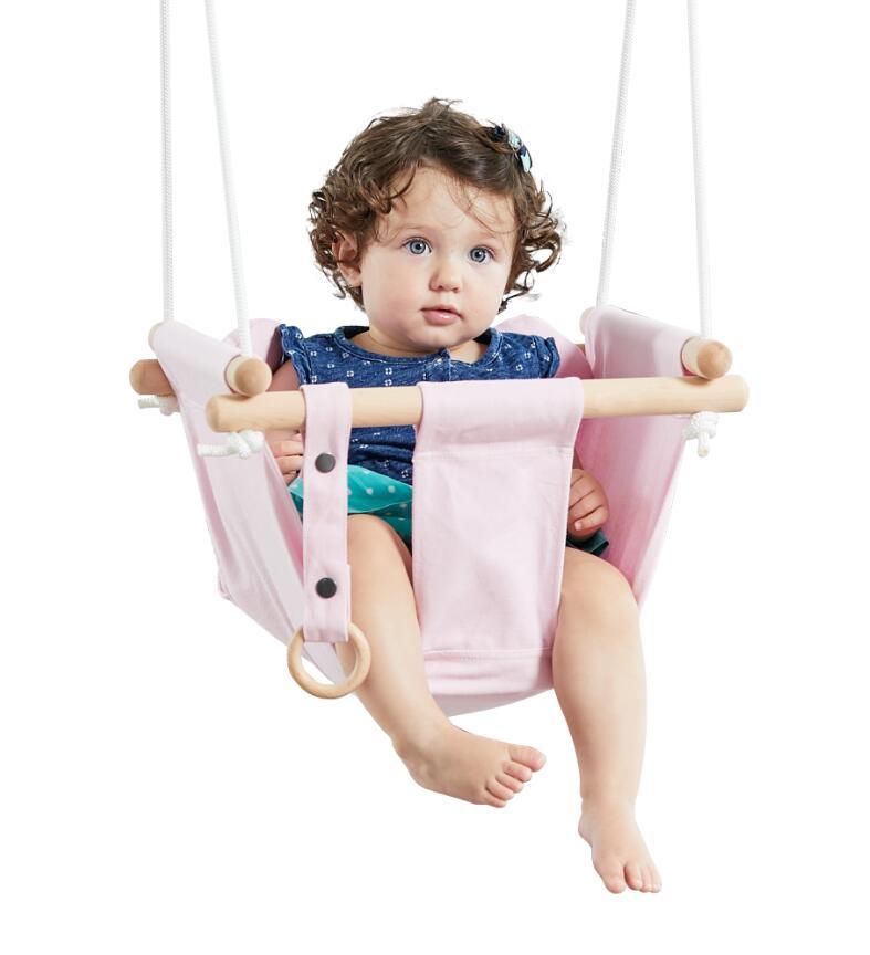 Detská textilná hojdačka 100% bavlna ružová