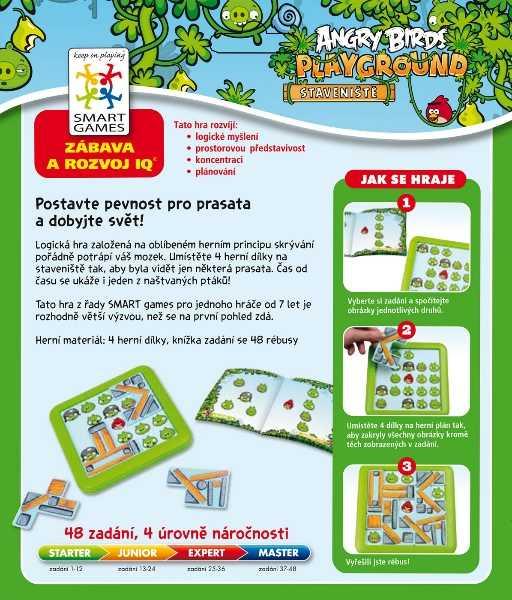 Dětské hlavolamové smart hry - Angry Birds: Staveniště