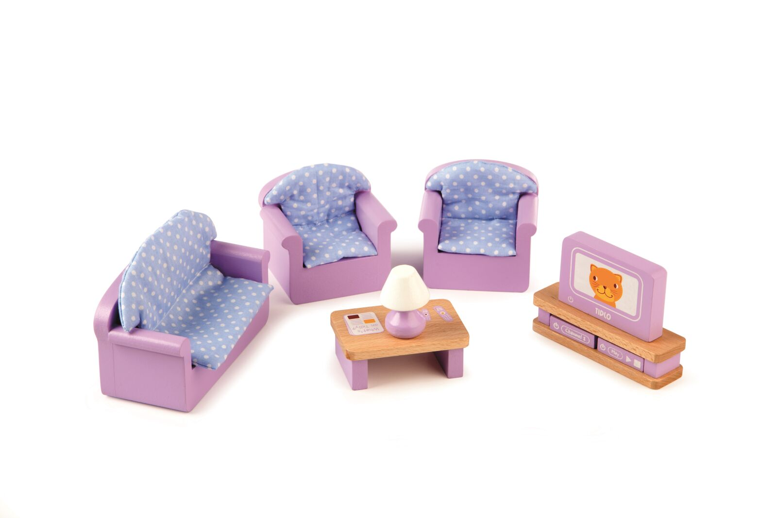 Tidlo drevený nábytok - Obývacia izba fialová