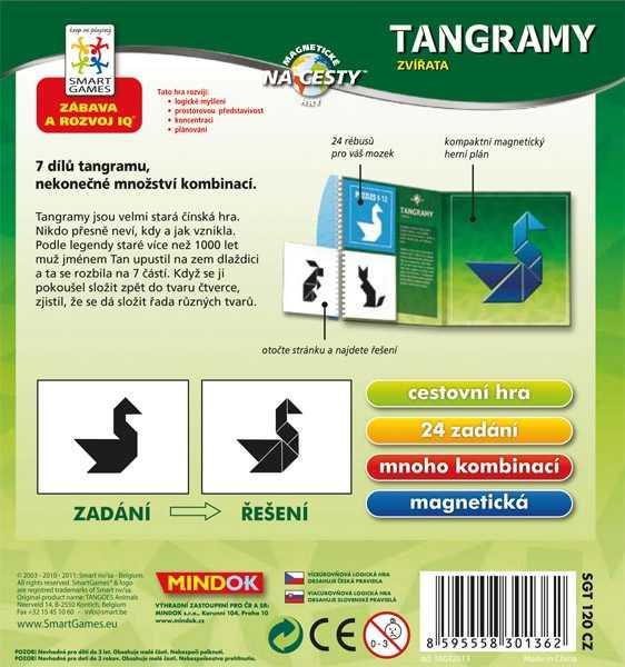 Dětské hlavolamové smart hry - Tangramy: Zvířata