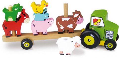 Vilac Nasazovacia hračka - Traktor so zvieratkami