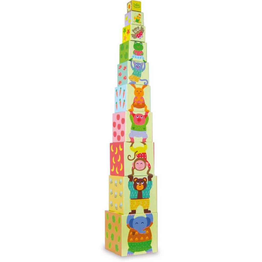 Hračka Vilac - Věž z kostek zvířátka