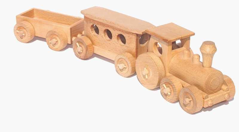 Ceeda Cavity - přírodní dřevěný vláček - Osobní vlak