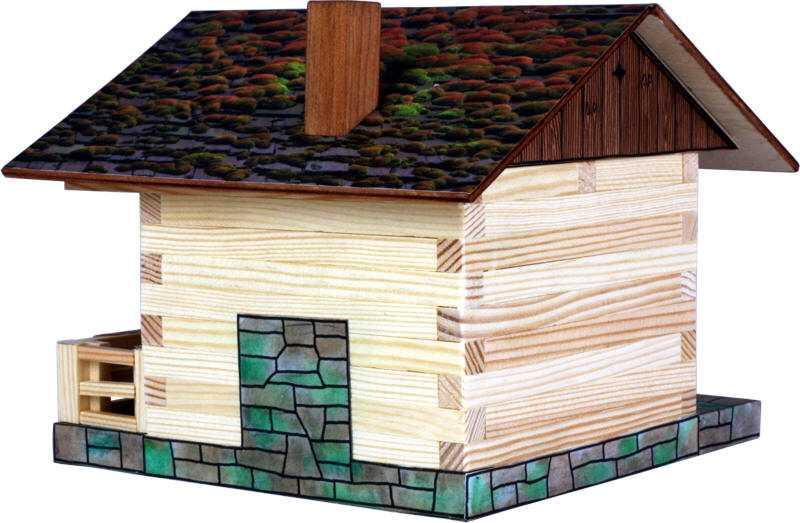 Walachia Drevená zlepovacia stavebnica Alpská chata