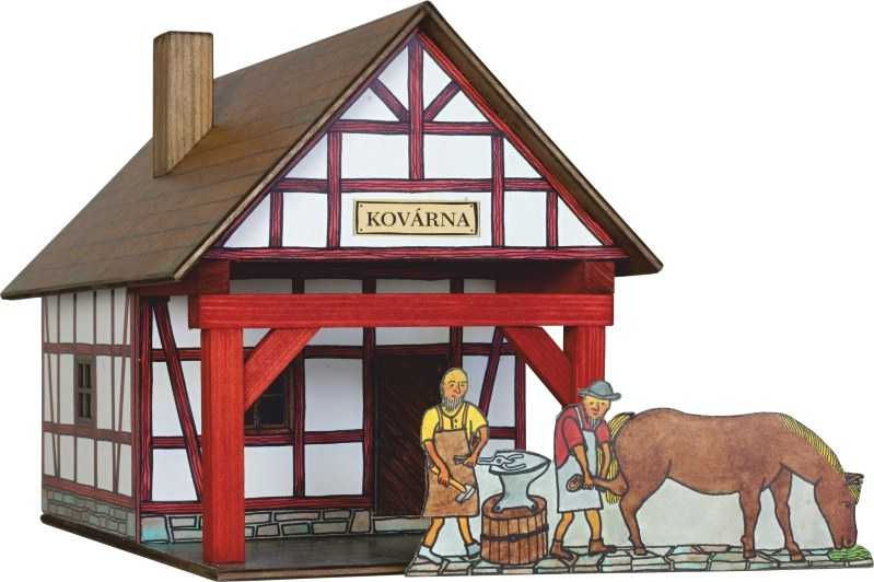 Walachia Drevená zlepovacia stavebnica Hrázdená kováreň