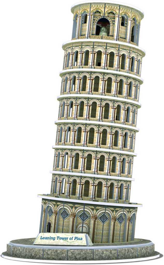 Třívrstvé pěnové 3D puzzle  - Šikmá věž