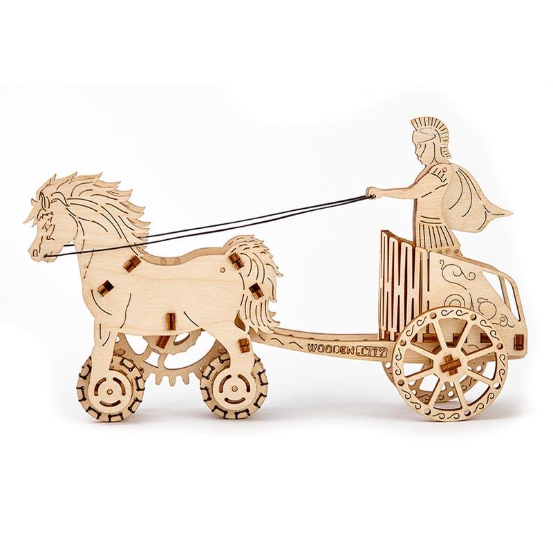 Wooden City 3D mechanické puzzle - Rímsky voz