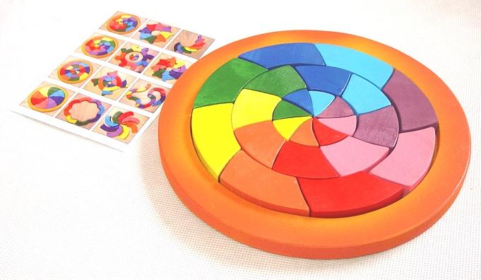 Didaktická skládačka KRUH barevný