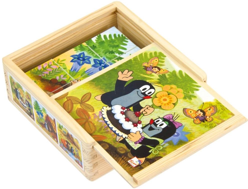 Bino kocky Pani Krtková v krabičke 9 kusov