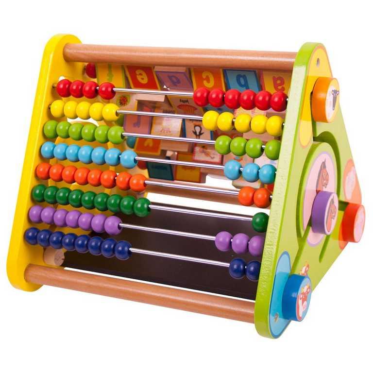Dřevěné hračky - Aktivní trojúhelník s angličtinou