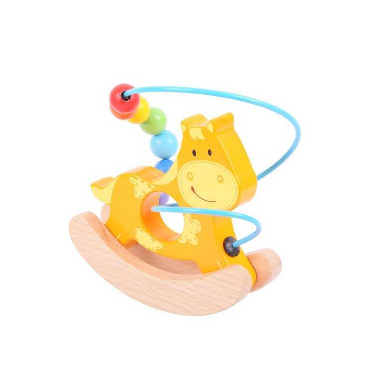 Bigjigs Baby Motorický labyrint hojdačka koník