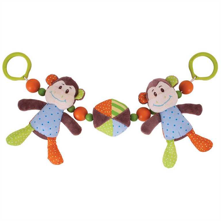 Bigjigs Toys - Chrastítko do kočárku opička Cheeky