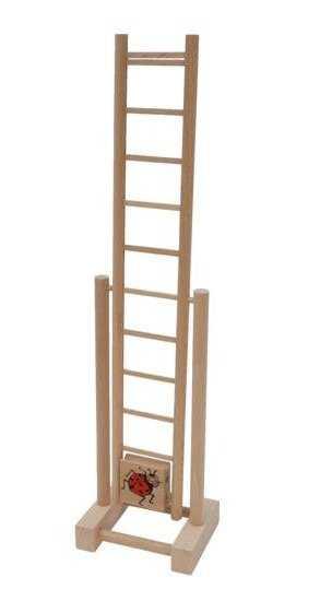 Dřevěné hračky - Dřevěný žebřík beruška